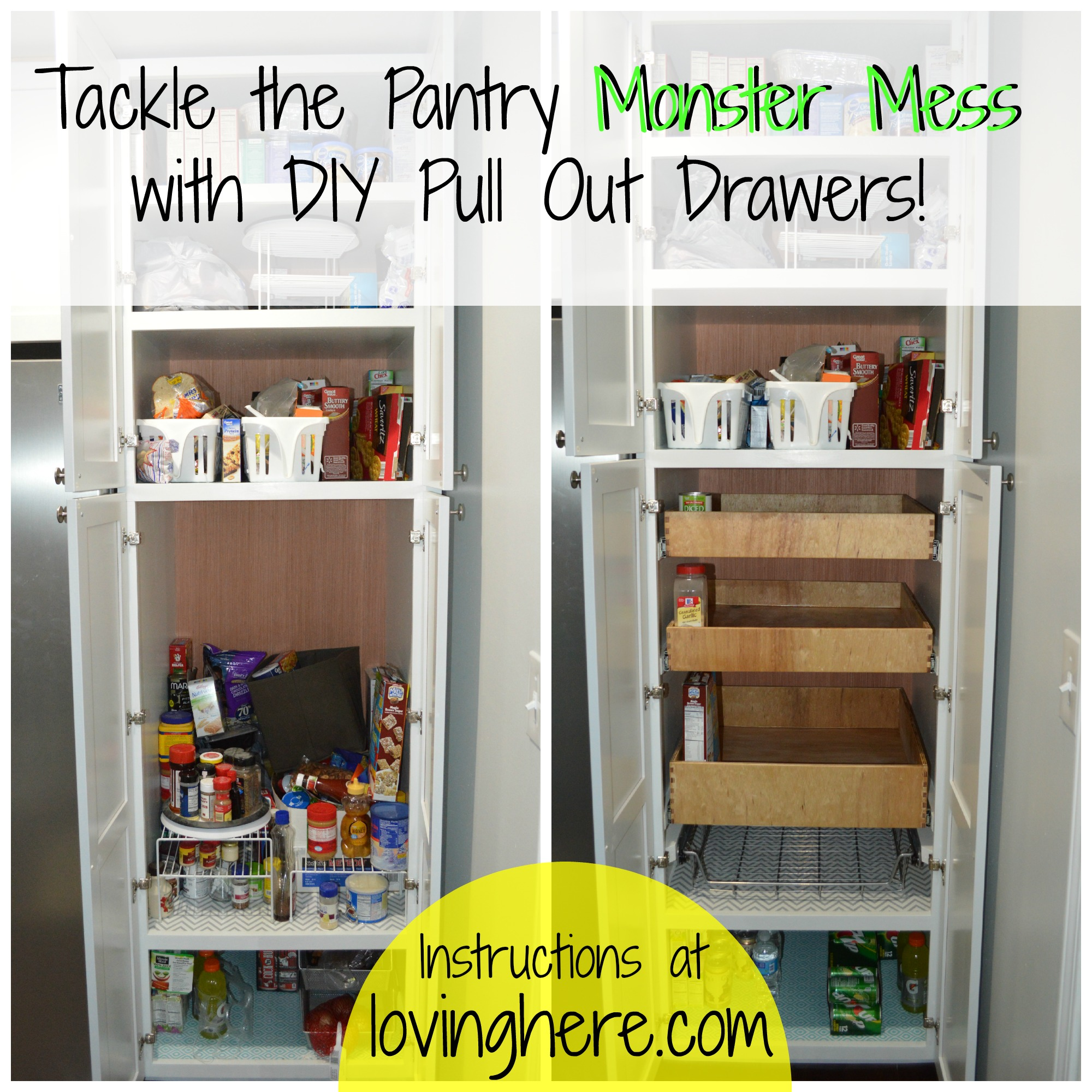 diwyatt building pull out pantry drawers loving here. Black Bedroom Furniture Sets. Home Design Ideas