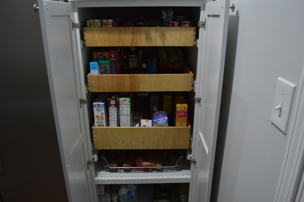 Filled Pantry Shelves