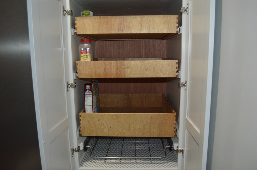 Finished Pantry Drawers Installed