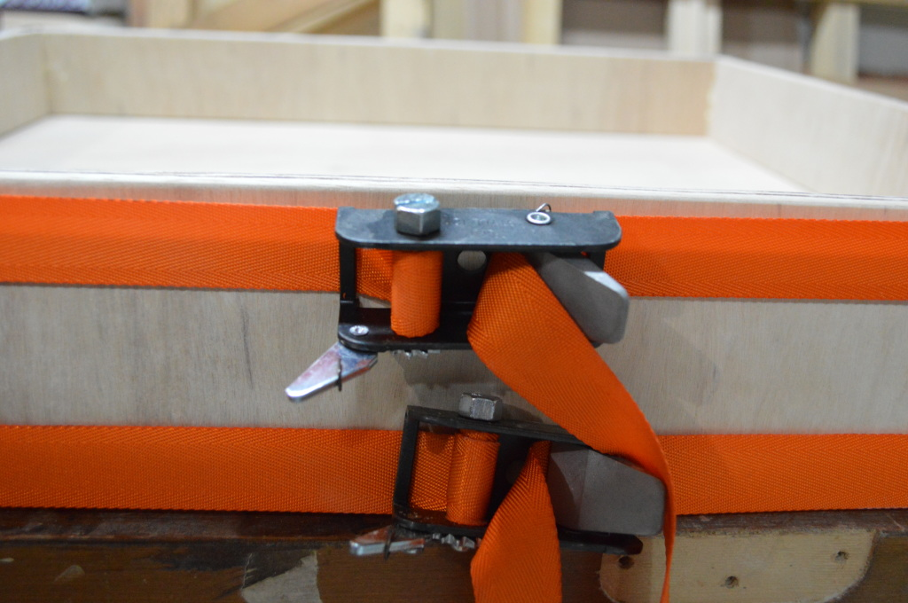 Gluing Pantry Drawer Box Joints with clamps 2