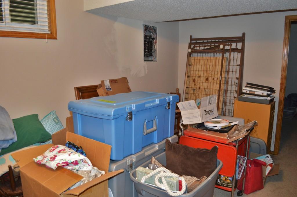 Messy Basement Guest Room Full of Stuff 3
