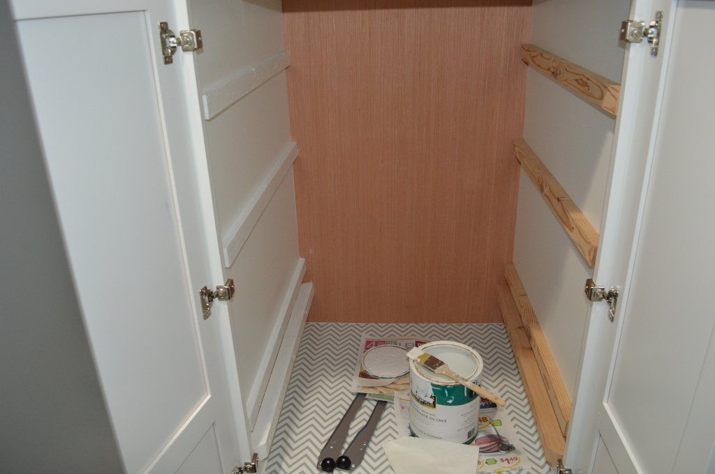 Pantry Drawer Rails Painting