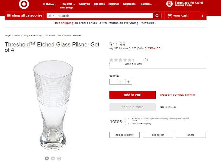 threhold beer glasses