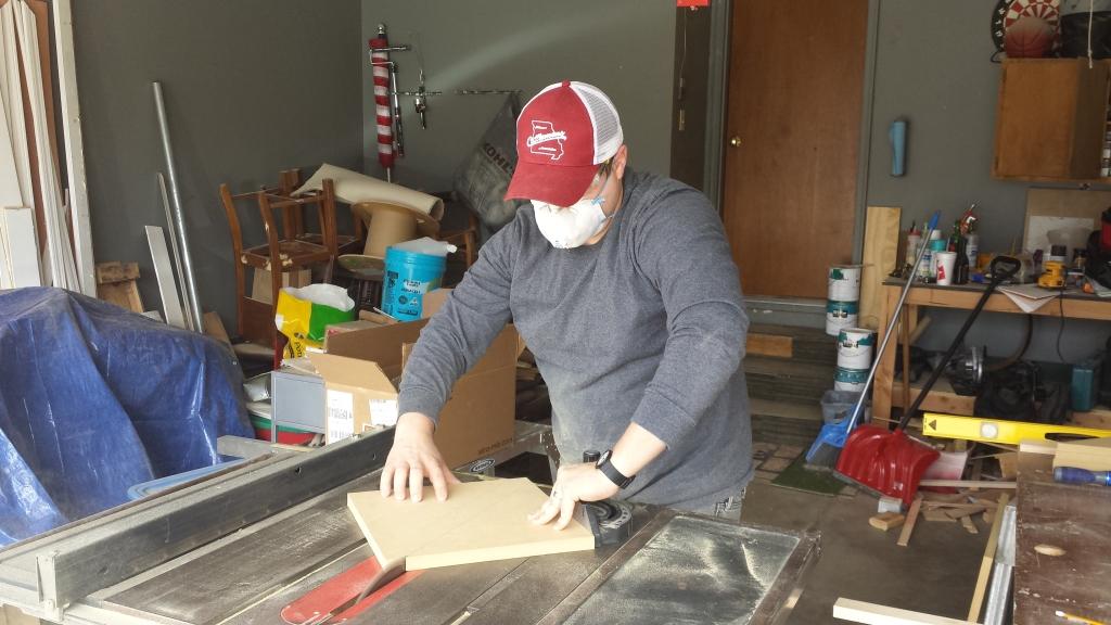 Building Corner Nook Shelves Cutting 8