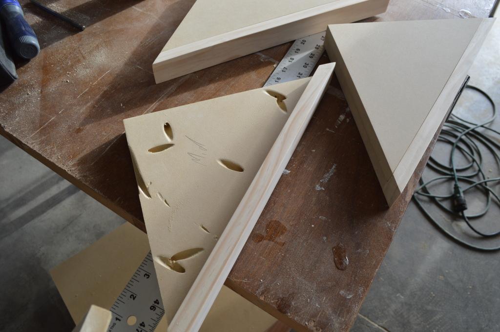 Building Corner Nook Shelves MDF and Pine Construction