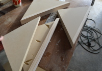 Building Corner Nook Shelves MDF and Pine Construction 2