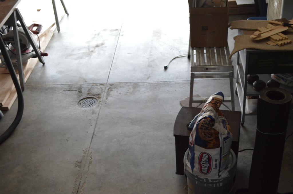 Cleaned garage floor