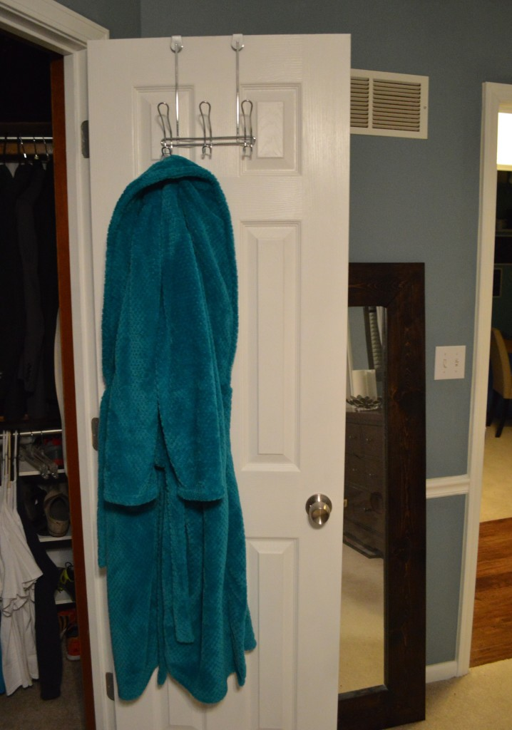 Closet Door Hanger with Robe