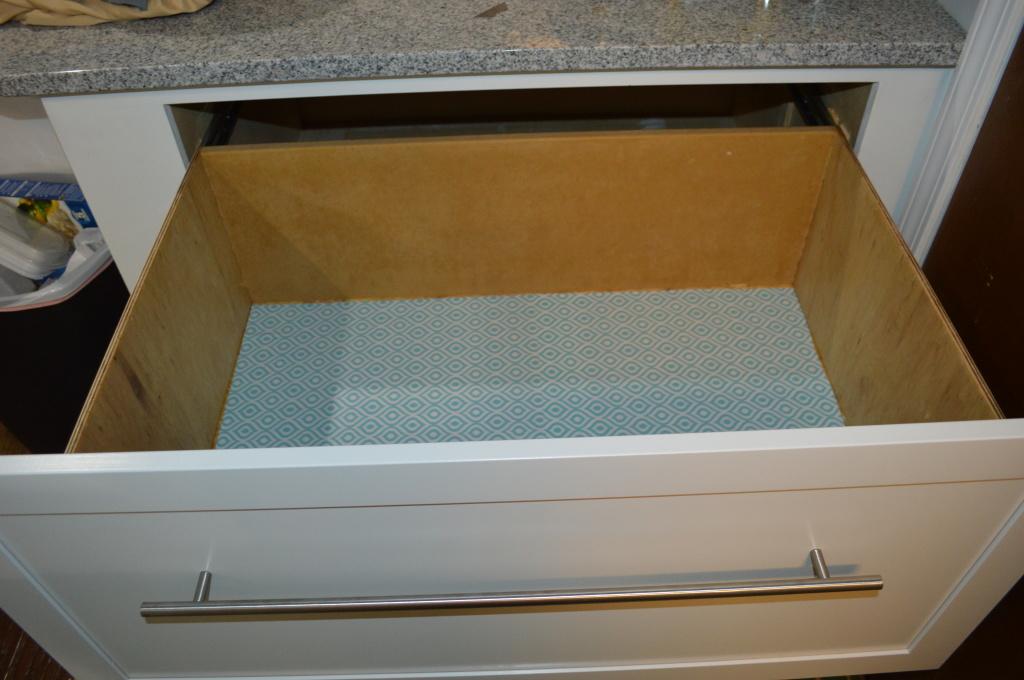 DIY Deep Appliance Drawer Liner
