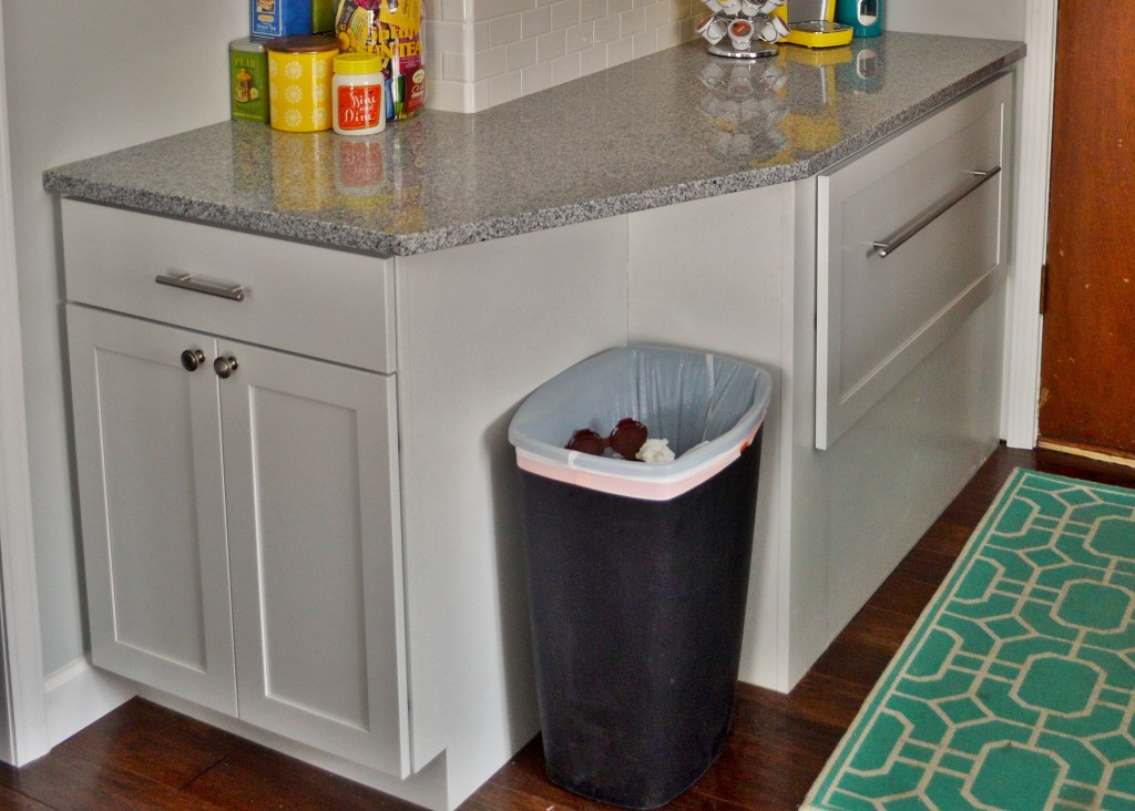 Dingy Trash Can Before