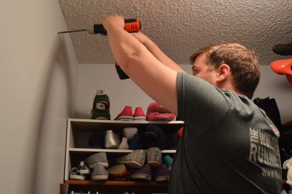 Hanging Scarf Hanger in Closet