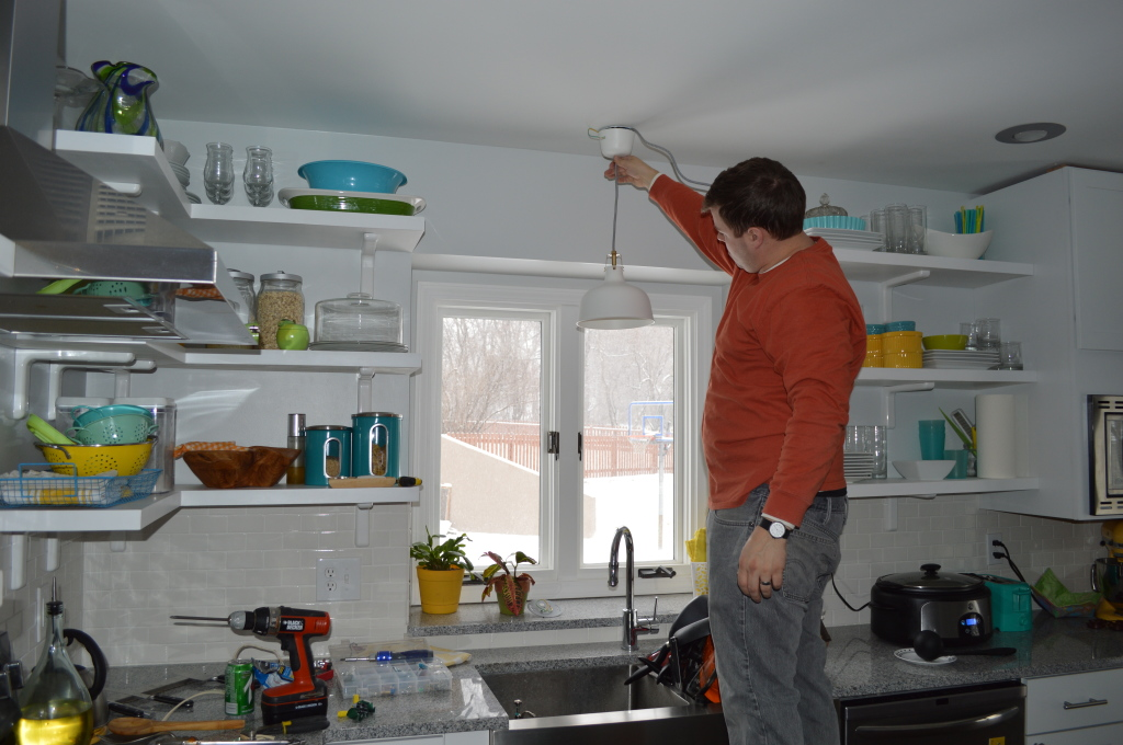 Installing Ikea Pendant Light Over Sink 4