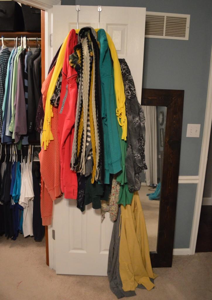Messy Closet Door