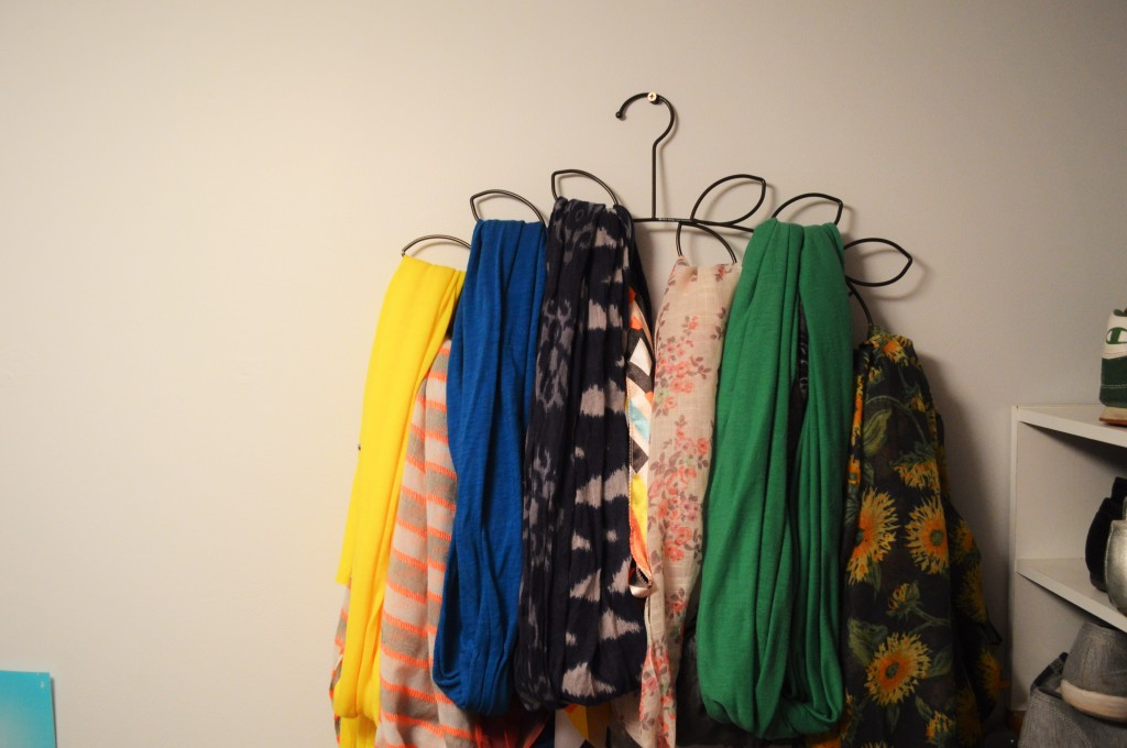Scarves Hanging in Closet 3