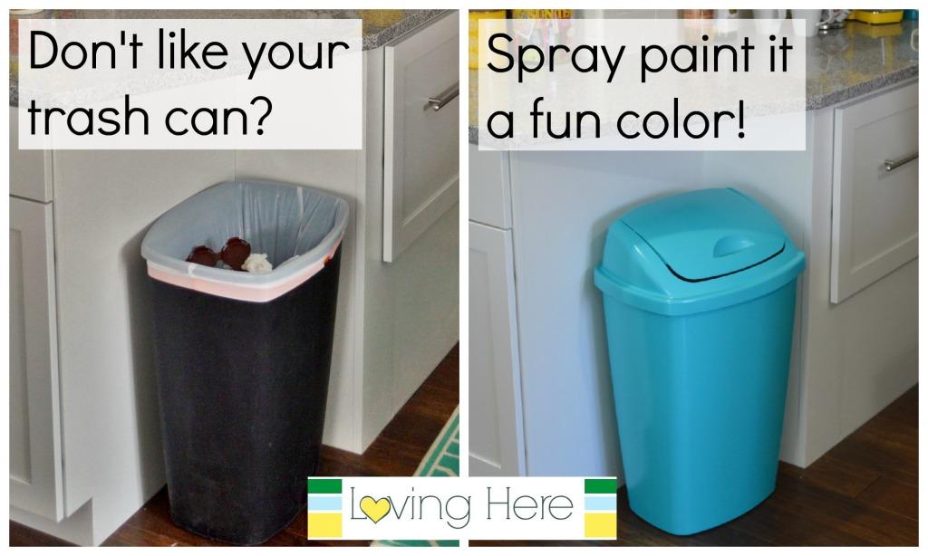spray paint trash can