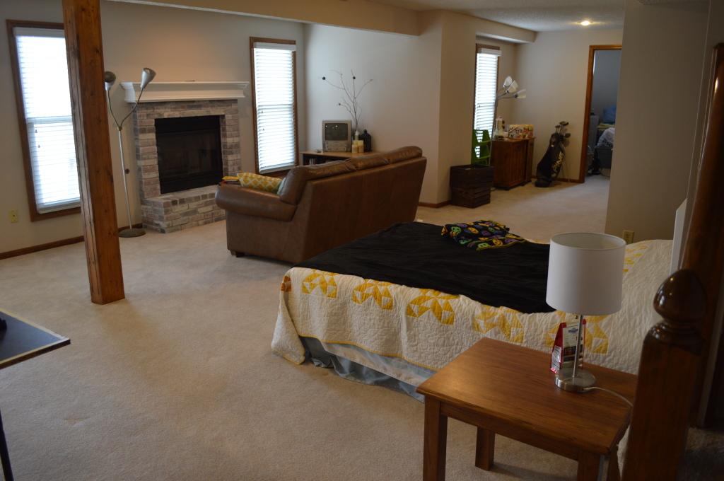 Basement Couch Arrangement