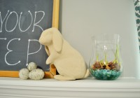 Easter Peter Rabbit on Mantle