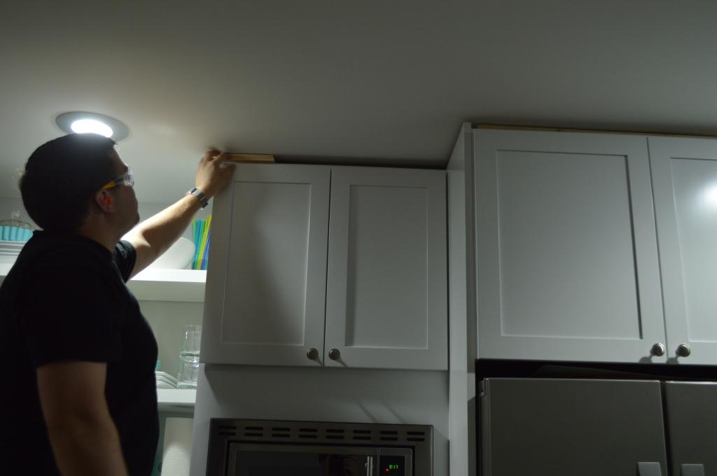 Kitchen Cabinet Trim Before