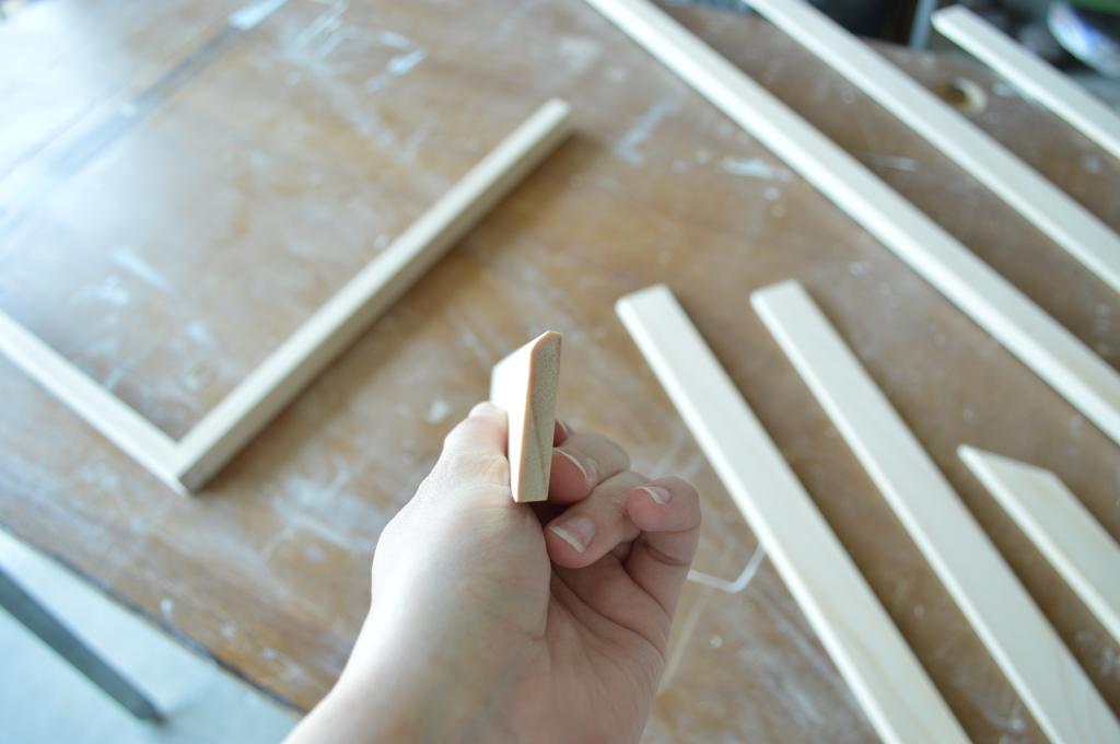 Kitchen floor trim building