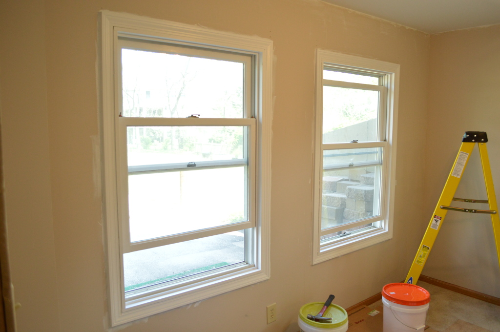 Painting Guest Room Window Trim