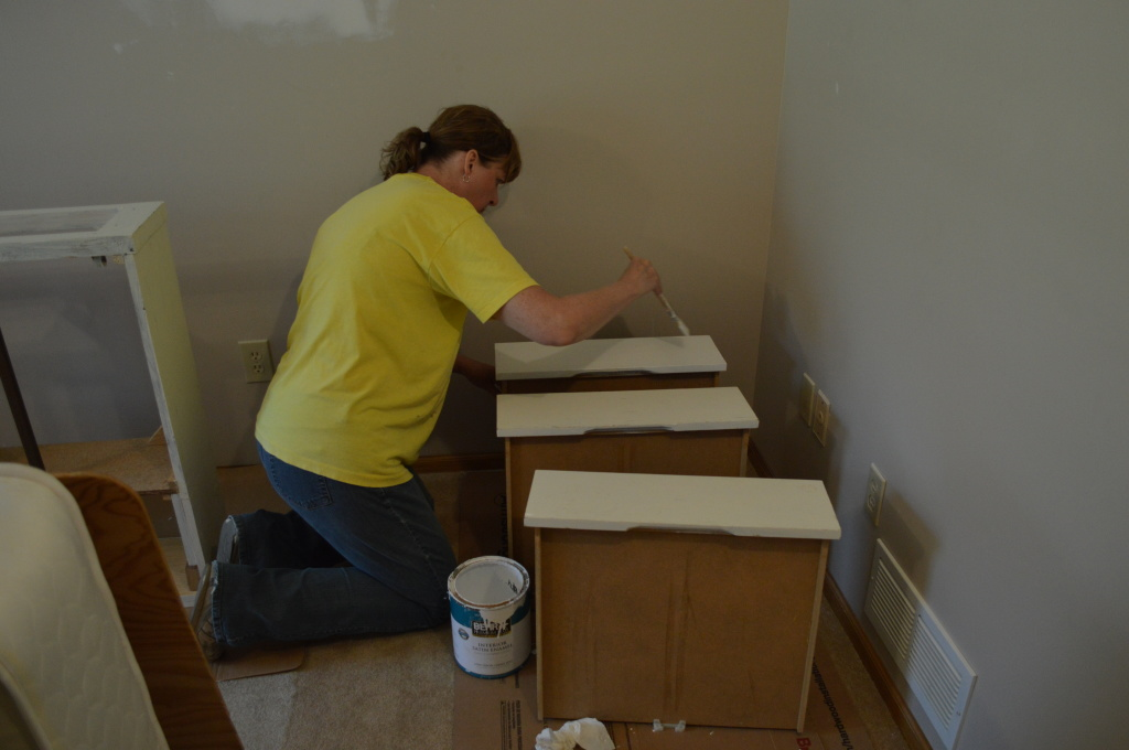 Painting New Guest Room Beds
