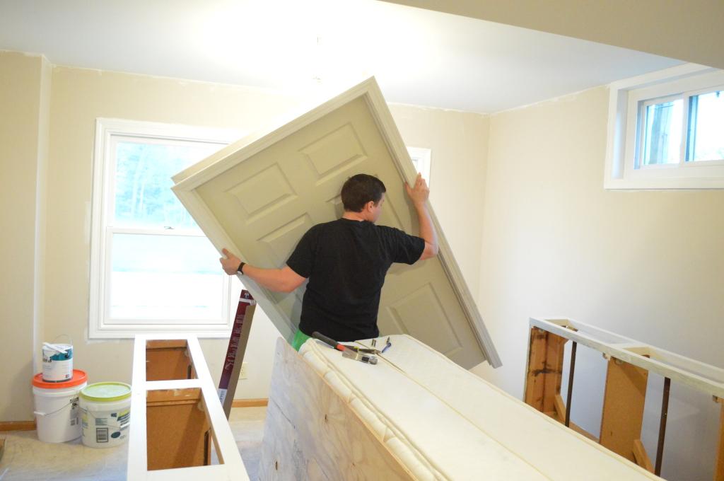 Pre-hung door jam installation 4