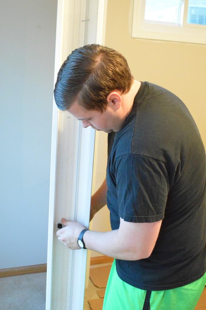 Pre-hung door jam installation 5