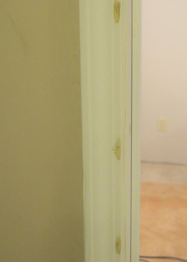 Pre-hung door jam installation putty