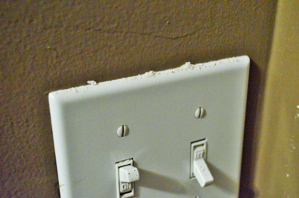 Removing Popcorn Ceiling DIY Mess Light Switch