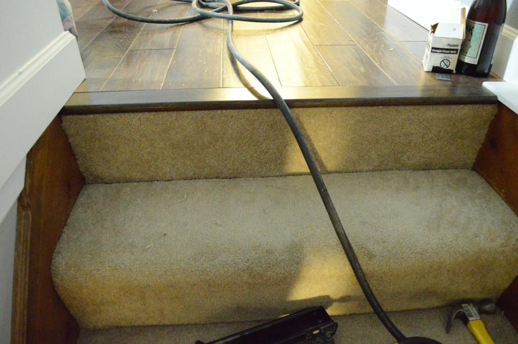 stairway carpet fix