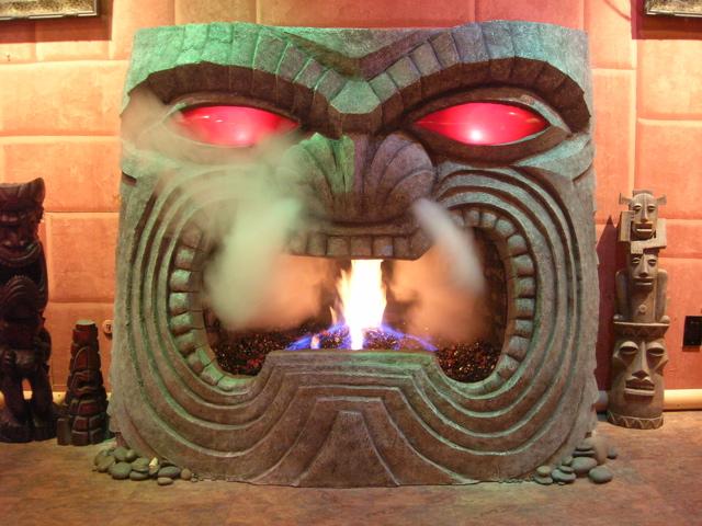 tiki fireplace