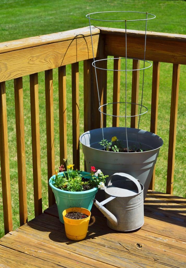 Deck Tomato Planters