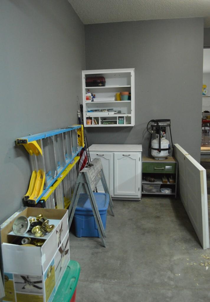Garage Organization Progress 2