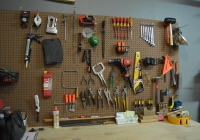 Garage Organization Progress Pegboard