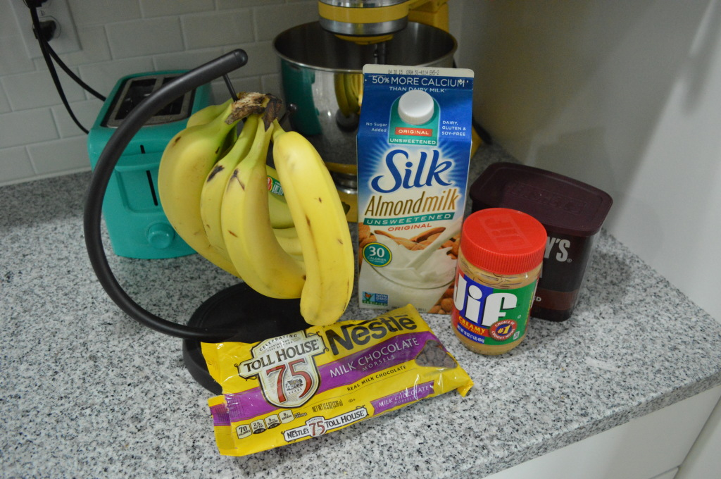 Healthy Banana Chocolate Ice Cream Ingredients