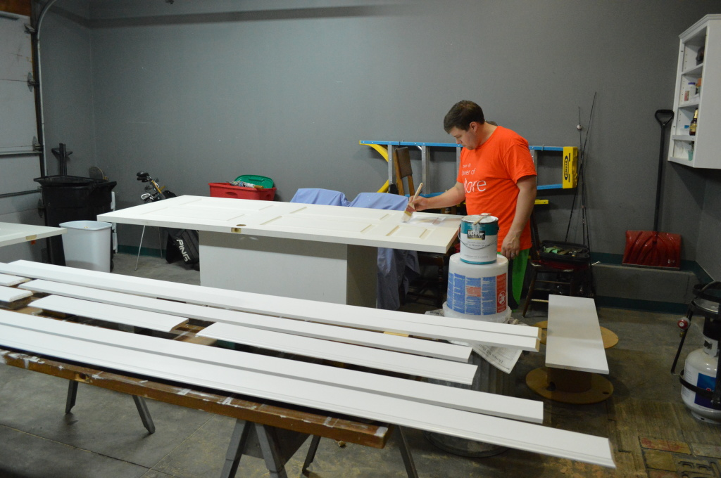 Painting Trim and Doors in Garage 2