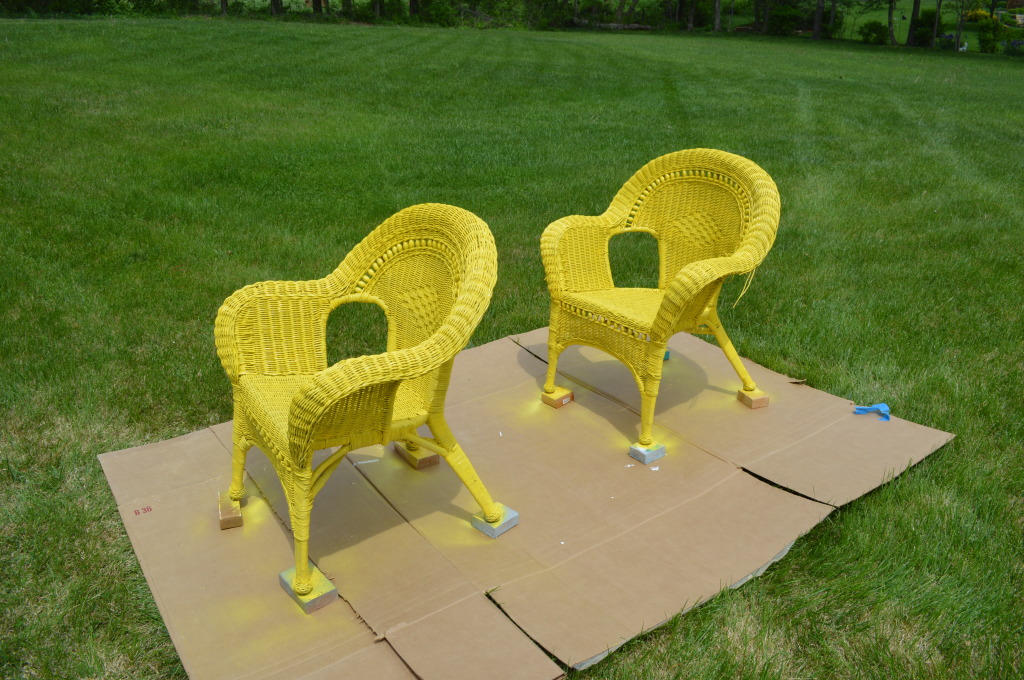 RePainted Wicker Patio Furniture