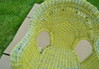 RePainting Wicker Patio Furniture Before