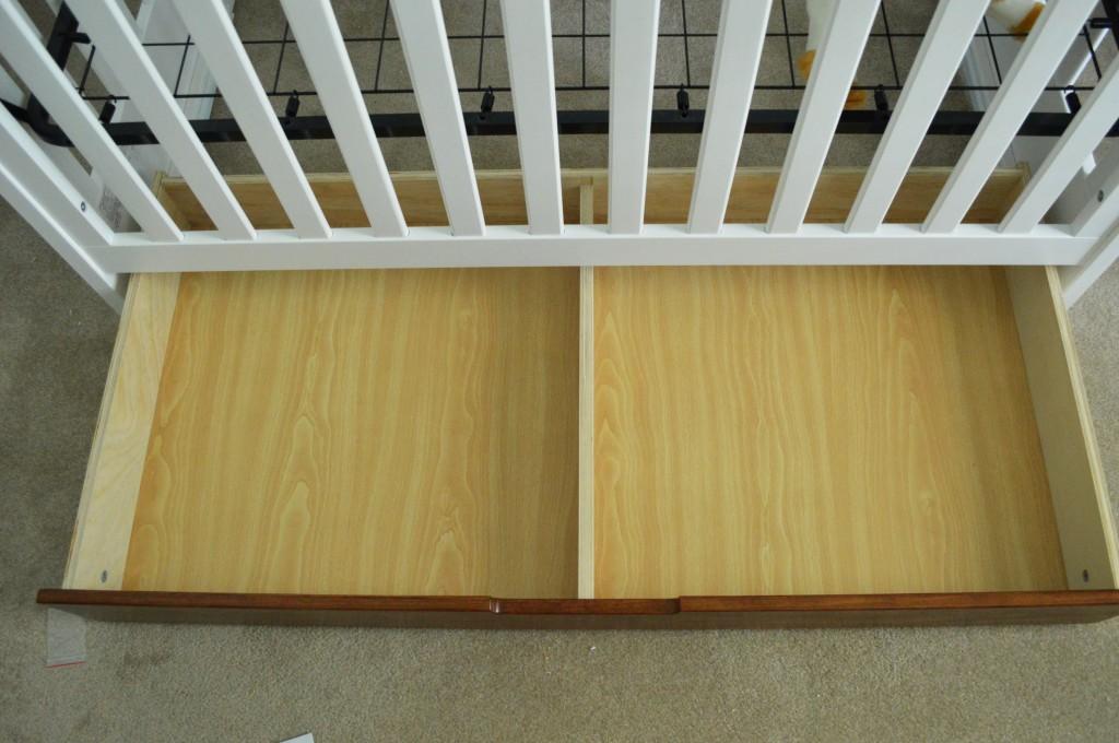 Assembled Crib Drawer Empty