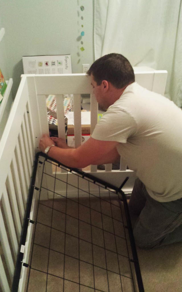 Assembling Crib
