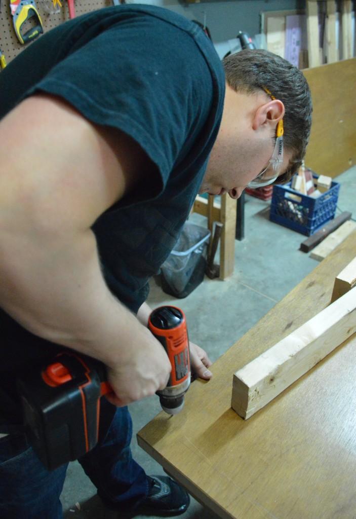 Building Headboard Frame On Old Door 3