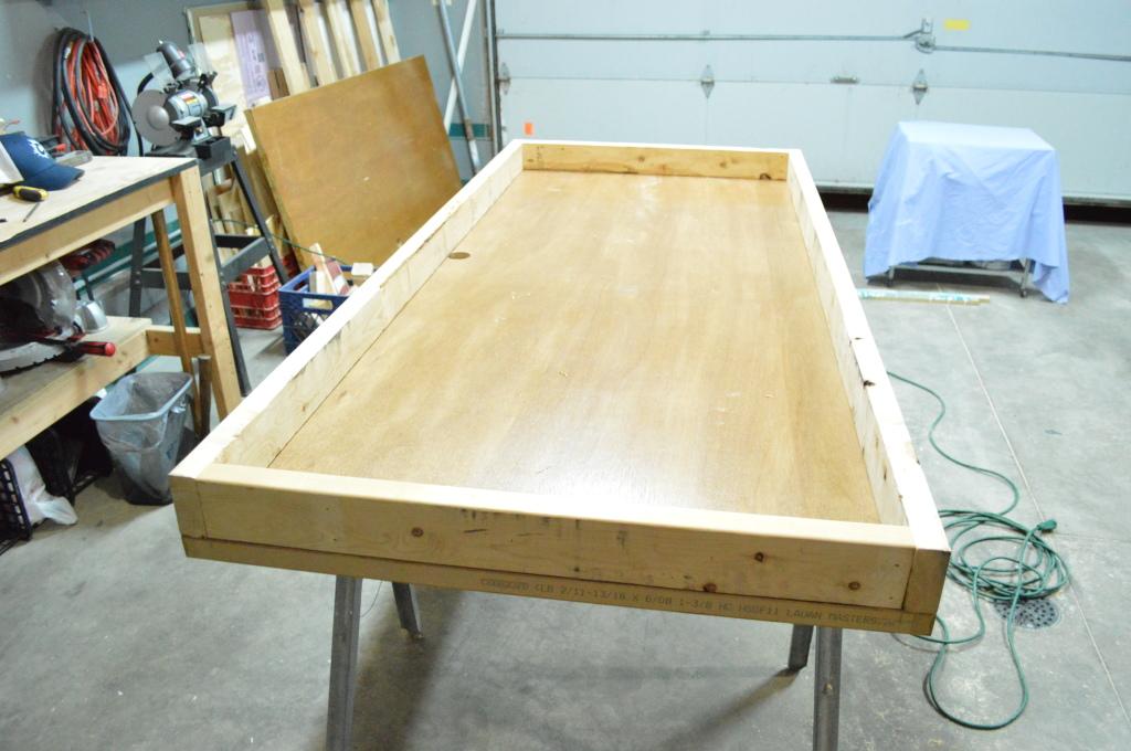 Building Headboard Frame On Old Door Done