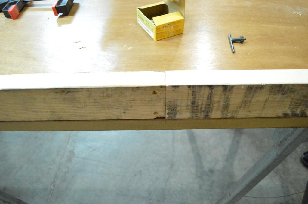 Building Headboard Frame On Old Door Scrap Wood