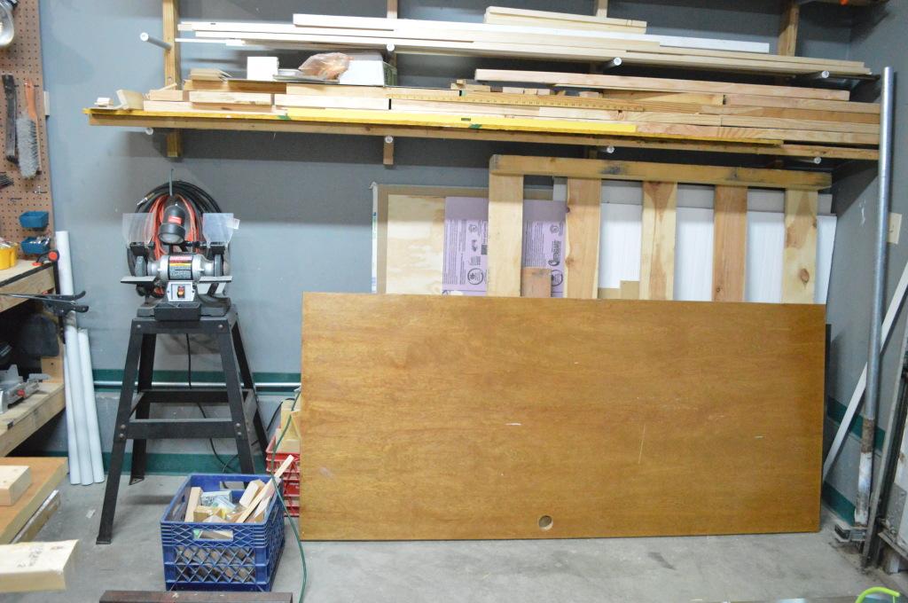 Building Headboard Frame on Old Door