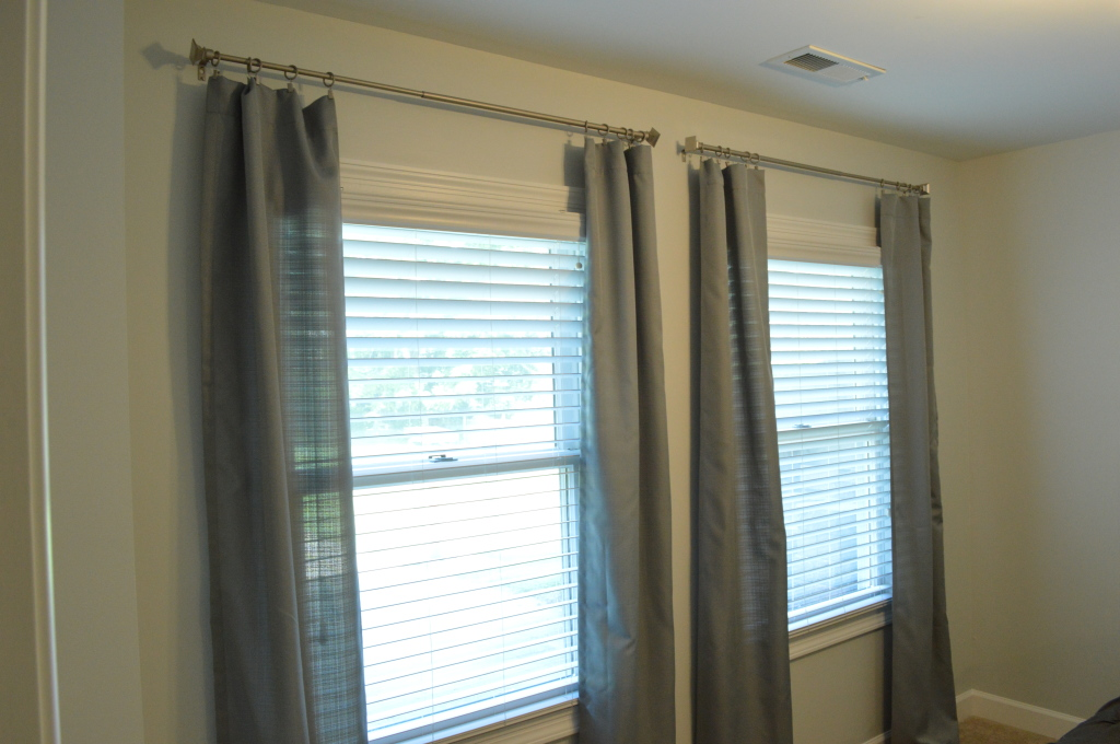 Cut Guest Room Curtains Hung 2