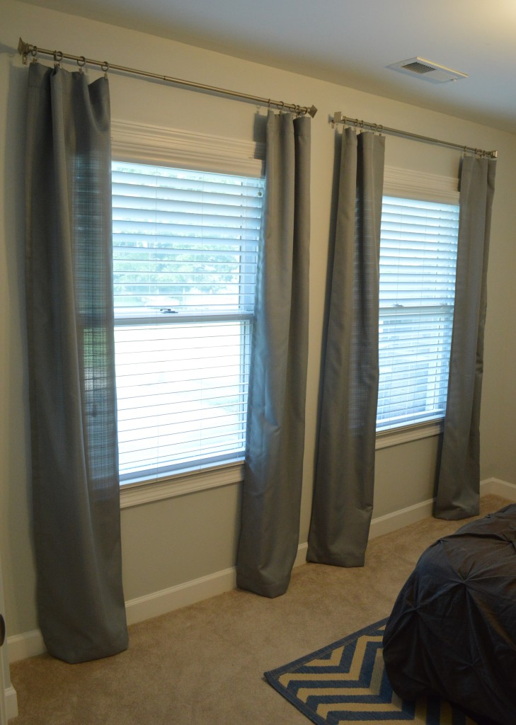 Cut Guest Room Curtains Hung