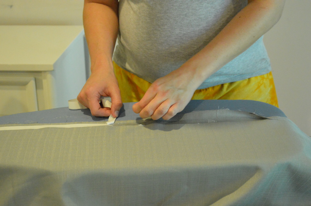 Cutting Guest Room Curtains Hem 2
