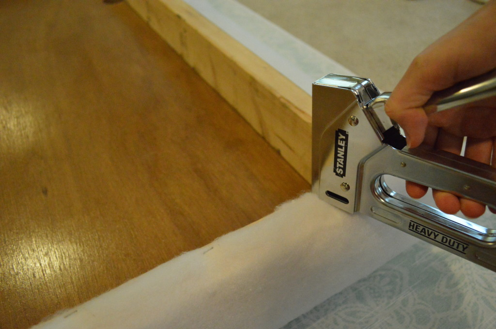 DIY Upholstered Headboard Attaching Batting 3