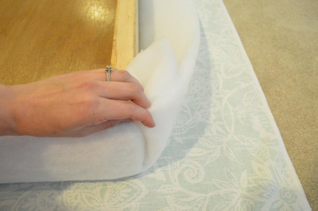 DIY Upholstered Headboard Batting Corner 3