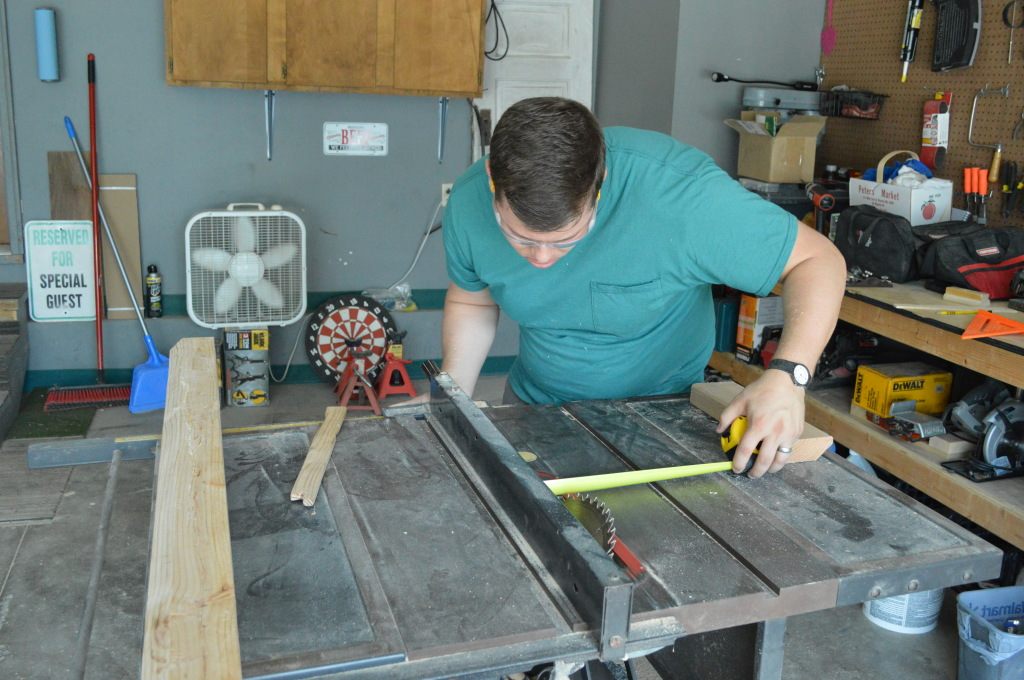 DIY Upholstered Headboard Building Wooden Cleat Table Saw